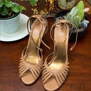 Aldo SZ 40, open-toe sandals with strap@ankle